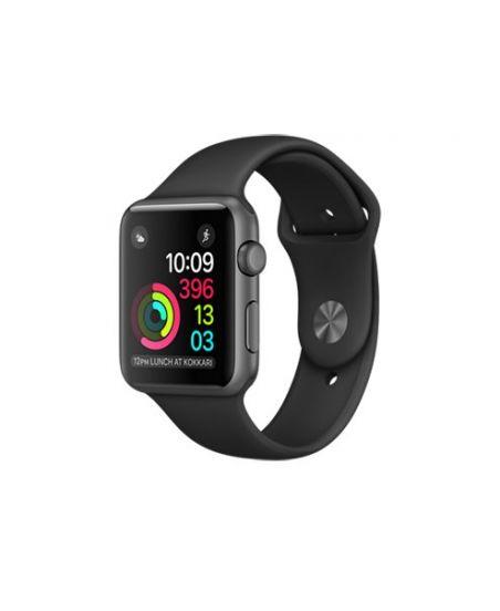Apple Watch Series 1, 42 мм, корпус из алюминия, цвета «серый космос», спортивный ремешок чёрного цвета