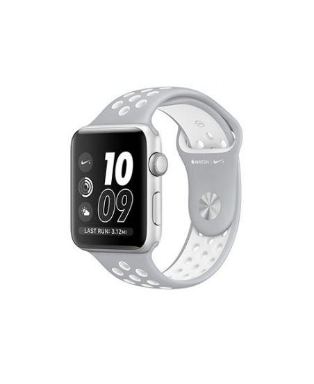 Apple Watch Nike+ 42 мм, корпус из серебристого алюминия, спортивный ремешок Nike цвета «листовое серебро/белый»