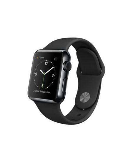 Apple Watch 38 мм, черный космос, черный спортивный ремешок 130-200 мм
